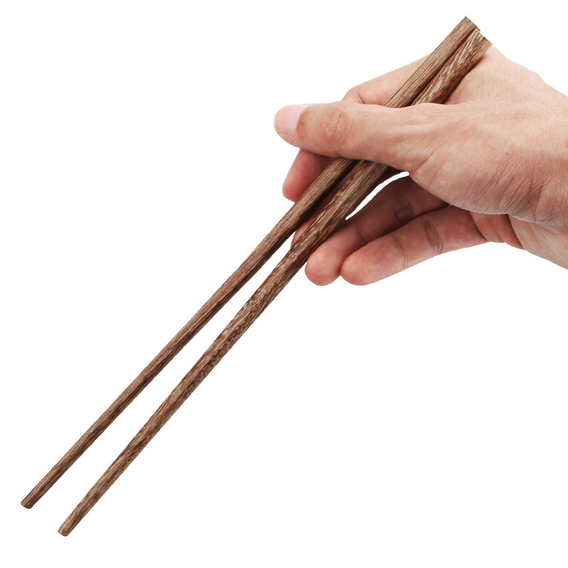 UPORS 100Pairs Chinese Chopsticks Reusable Wooden Chopsticks Natural Wood Sushi Sticks Korean Long Cooking Chopsticks for