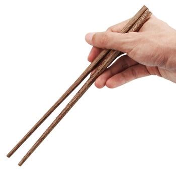 UPORS 100Pairs Chinese Chopsticks Reusable Wooden Chopsticks Natural Wood Sushi Sticks Korean Long Cooking Chopsticks for Dinner