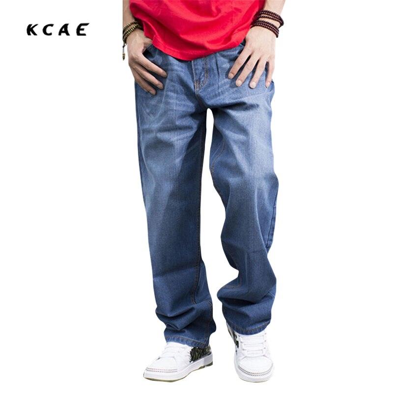 Men Hip Hop Jeans Skateboard Men Baggy Jeans Denim Hiphop Pants Casual Loose Jeans Rap 4 Seasons Trousers Big Size 30-46