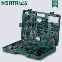 SATA 58pcs Hardware household electric tools,repair home improvement multi function drill, high power suit 05156