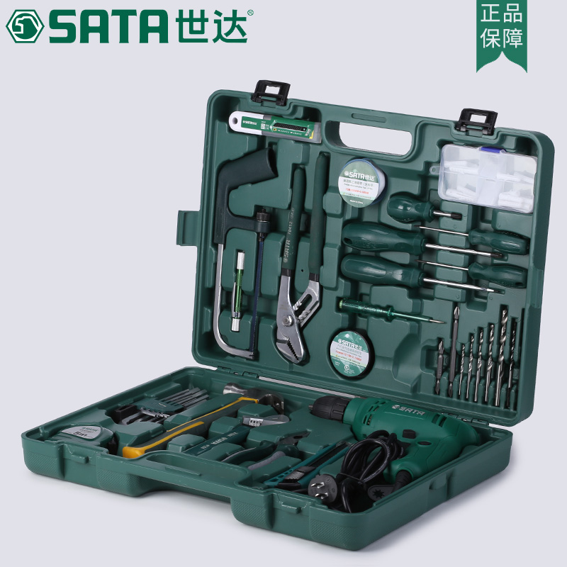 SATA 58pcs Hardware household electric tools,repair home improvement multi-function drill, high power suit 05156 цены