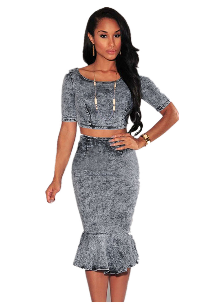 Compare Prices on Acid Wash Denim Skirt- Online Shopping/Buy Low ...