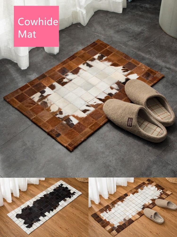 Cuir nordique fouets dans la porte tapis porte entrée tapis de sol foyer chambre chevet pédale maison tapis personnalisé