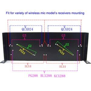 Image 3 - Стойка кронштейн для беспроводного микрофона, 19 дюймов, для shure SLX4/PGX4/QLXD4/BLX288, G2/G3