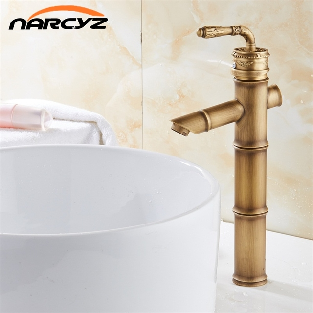 Modern Design Bamboo Antique Brass Faucet Fshion Basin Faucets ...