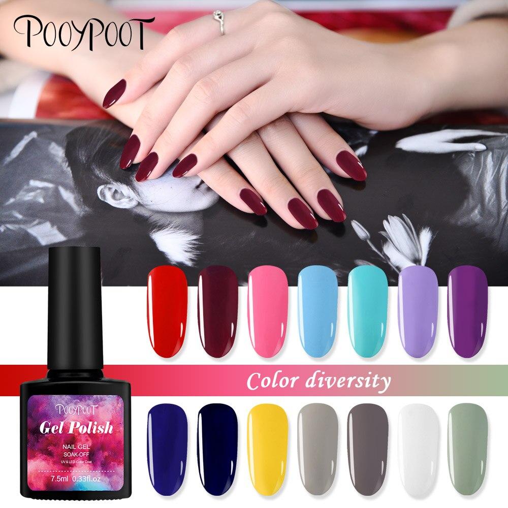 Pooypoot Nail Art Gel esmalte de uñas Precioso color caramelo Lacas - Arte de uñas