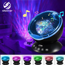 Ocean Wave Starry Sky Aurora LED Night Light Projector Luminaria Novelty Lamp USB Lamp Nightlight Illusion For Baby Children(China)