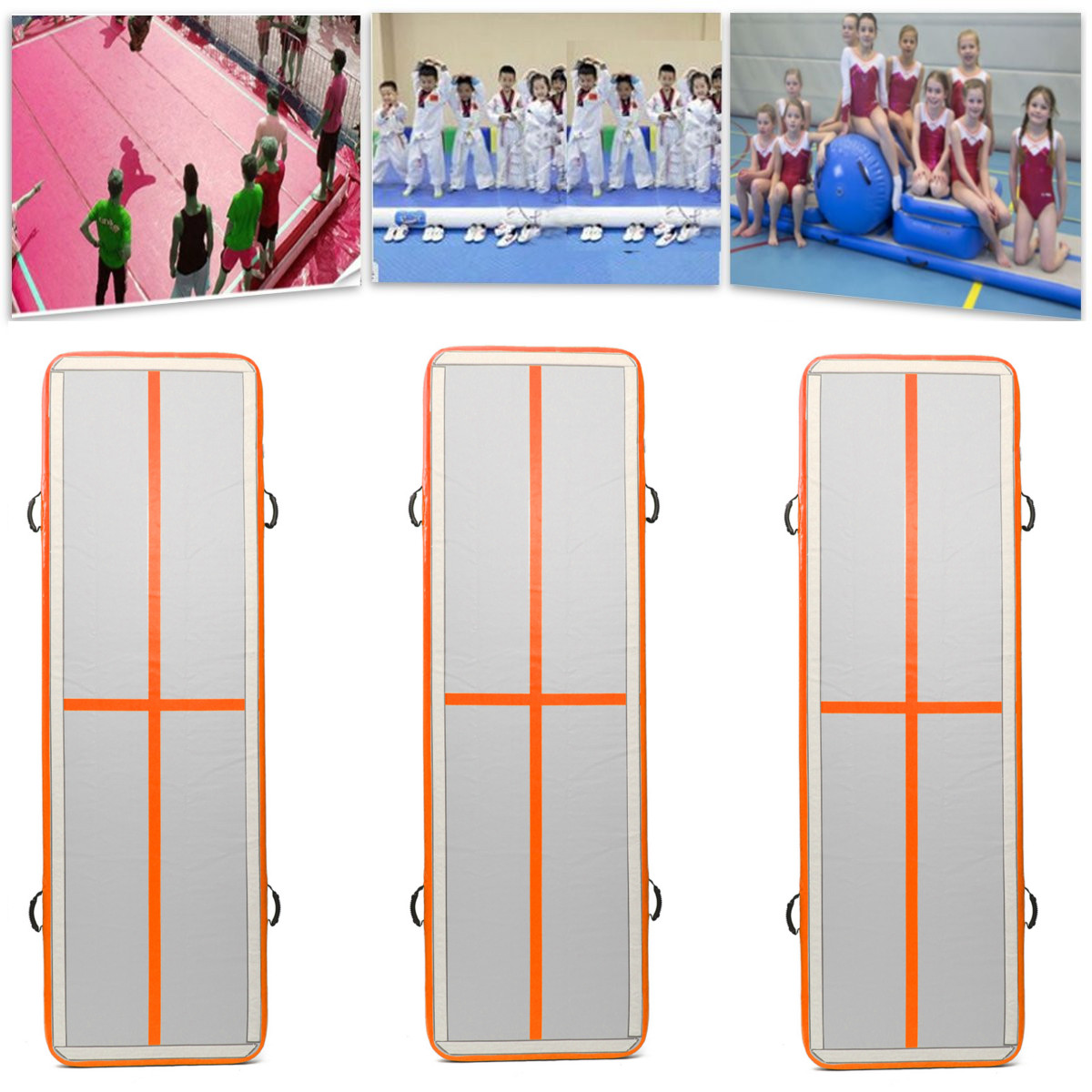 GoFun 100*300*10cm Airtrack Gymnastics Mat Inflatable GYM Air Track Mat For Tumbling Training Equipment цена