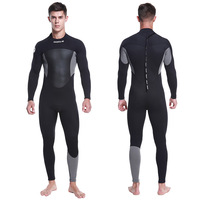 Hisea 1.5mm Men Neoprene wetsuit One piece Stitching Surf fitted Diving Equipment Jellyfish Clothing long sleeved