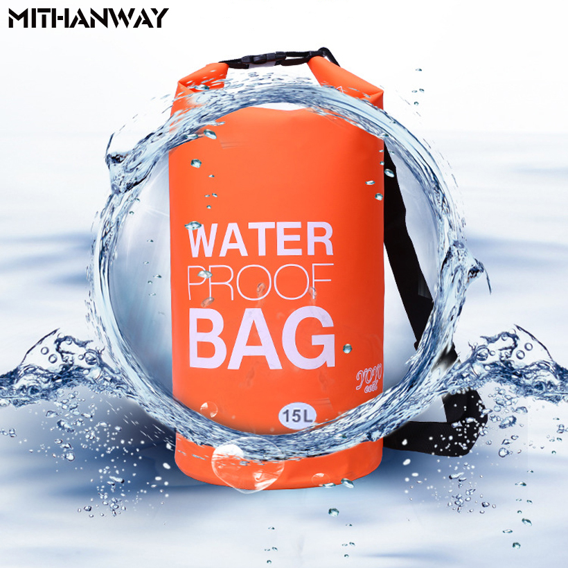 15L Outdoor Waterproof Dry Bags Floating Drift fishing Rafting Camping Hiking Swimming Upstream Bucket Storage Bag
