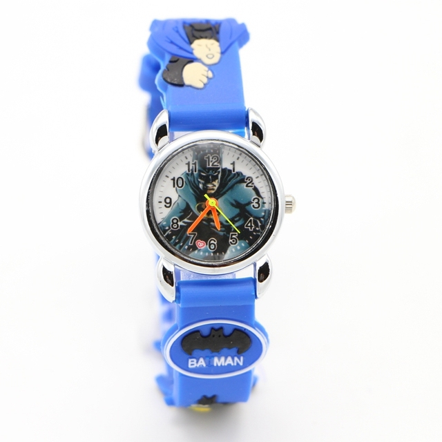 Fashion 3D Cartoon Lovely Kids Children boys watch Student Quartz WristWatch wat