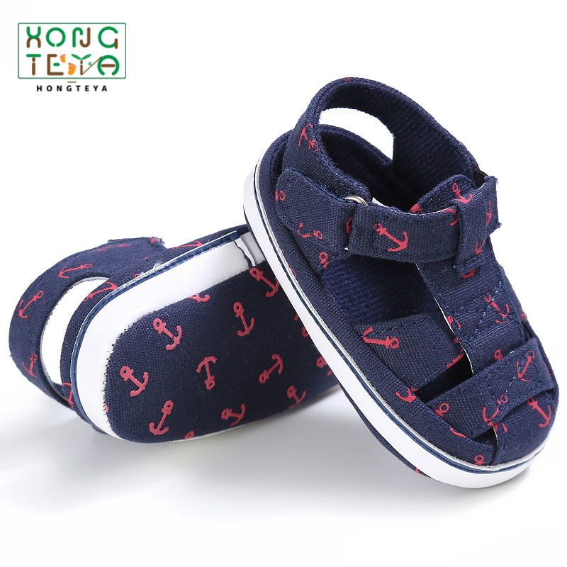 2019 Summer Style Soft Sole Fashion Printing Soft Bottom Baby Boys Shoes Infant Toddler Shoes Comfortable Indoor  Leisure Shoes