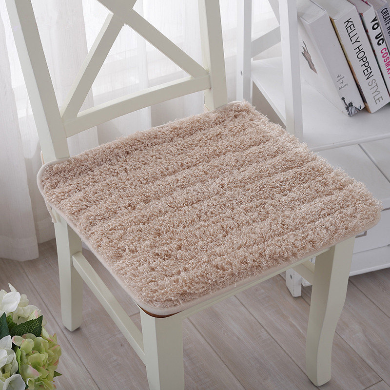Fluffy And Soft Plush Fabric Dining Office Chair Seat