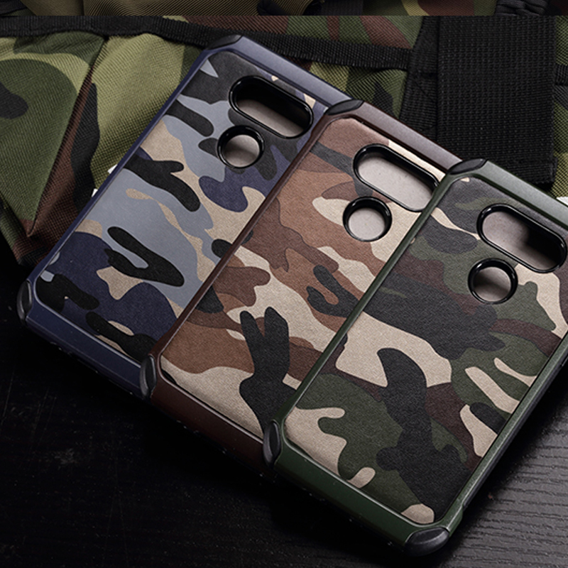 Armor Case For LG G5 Case Capa Luxury 2 in 1 PC + TPU Camouflage Case Shockproof Hard Back Cover For LG G5 Funda Phone Coque