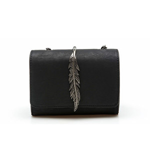 الأزياء يترك زينت البسيطة رفرف حقيبة من جلد الغزال بو الجلود سيدة حقيبة كتف صغيرة سلسلة حقيبة ساعي الخريف جديد وصول