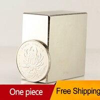1pcs Block 40x40x20mm N52 Super Strong Rare Earth Magnets Neodymium Magnet High Quality Free Shipping