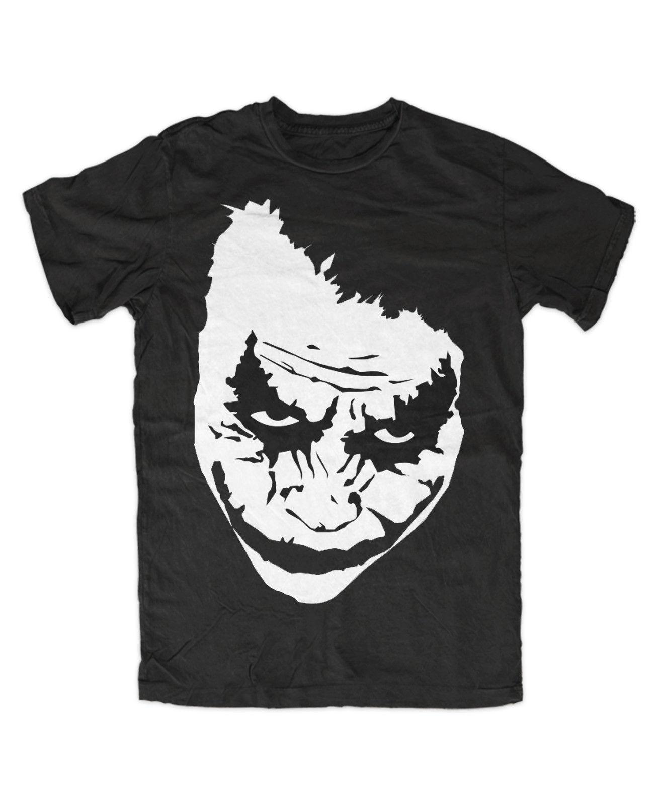 Joker face premium t shirt heath ledger joker why so serious ha ha ha