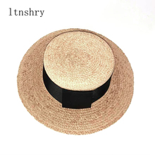 Handmade straw Raffia Ribbon sun hat Harajuku summer ladies beach Panama wide girl high quality chapeau Feminino