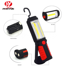 PANYUE LED Work Lamp USB Rechargeable Inspection Flashlight Magnetic Hook Emergency Torch Lantern For Working,Repairing handheld portable lantern tent light usb rechargeable 30w xml l2 led flashlight 3 modes emergency work inspection lamp