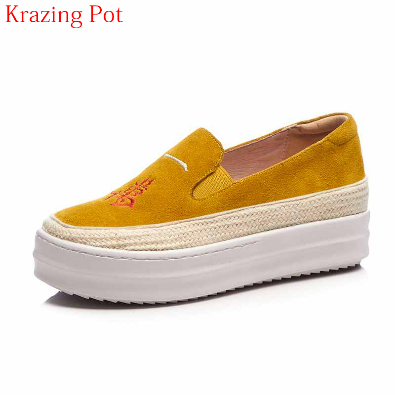 2018 New Arrival Cow Suede Superstar Round Toe Sneaker Mixed Color Causal Shoes Colorful Embroidery Women Vulcanized Shoes L26