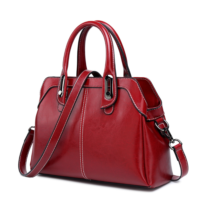 add707a316 Detail Feedback Questions about Genuine Leather Shoulder Crossbody Bag Tote  Handbag Casual High Quality Fashion Women Oil Wax Cowhide Top Handle  Messenger ...