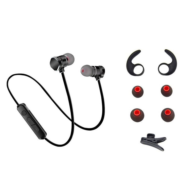 Magnetic Bluetooth Stereo Bass In Ear Wireless Earphones Sport Running Hands free Headphones With Microphone For Phone Headset high quality wireless headphones bluetooth headset with microphone nfc hifi music wireless earphones for phone hands free