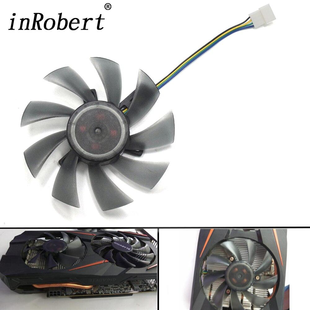 DIY 85mm T129215SU 4Pin ventilador para Gigabyte GeForce GTX 1050 Ti 1070 RX 480, 470, 570, 580 GTX 1060 G1 P106 tarjeta de gráficos de los Fans