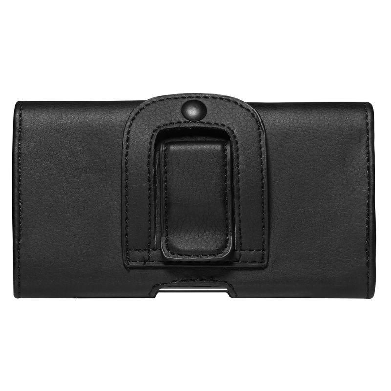 PU Leather Horizontal Waist Belt Clip Pouch Phone Bag For Men
