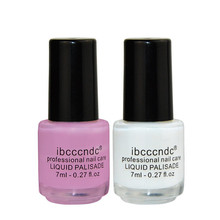 Original ibcccndc 7ML Nail edge Anti-overflow glue will dry quickly Protection Art Polish Manicure white and pink Two color