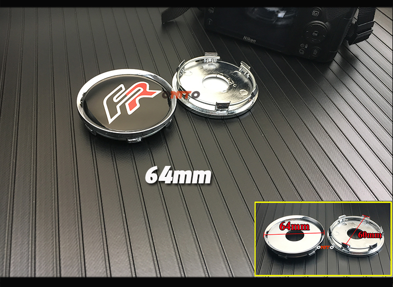 60mm//56mm FR Wheel Center Caps Cover Emblem For Seat Ibiza Leon Aftermarket yongyong2018888 4