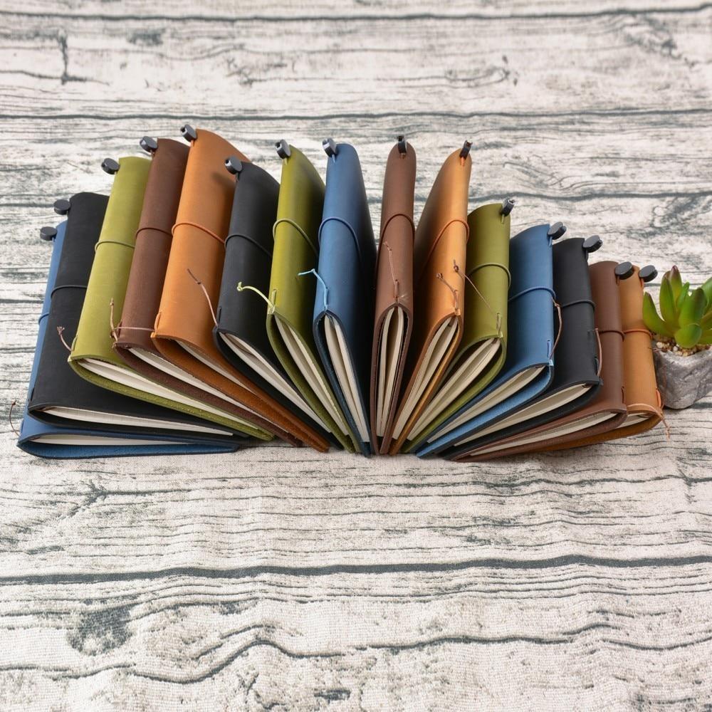 100% Äkta Läder Notebook Planner Handgjorda Travel Bullet Journal - Block och anteckningsböcker - Foto 6