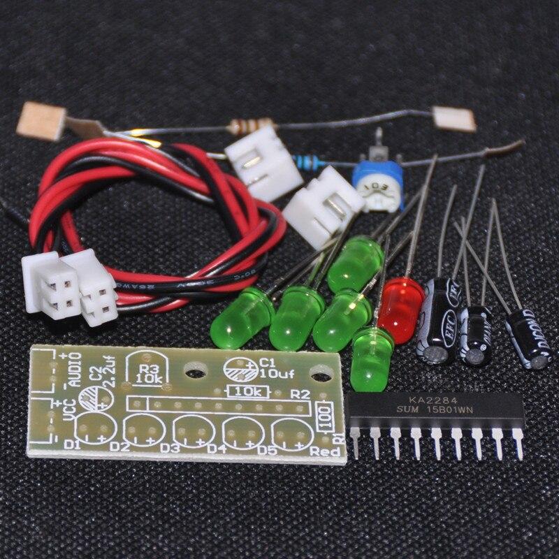 1PCS Elektronika KA2284 DIY Kits Audio Level Indicator Suite Trousse Electronic Parts 5mm RED Green LED Level Indicating 3.5-12V