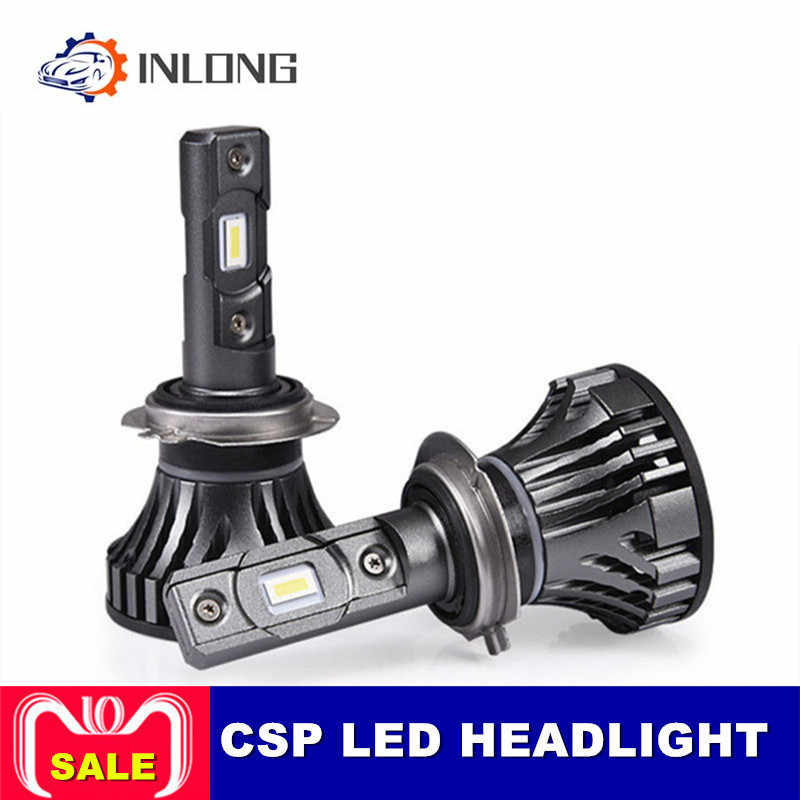 INLONG 2pcs Car Headlight H3 H7 H1 H4 H11 H1 9005 HB4 50W 12000LM Canbus Car LED Headlights 6000K Light Bulb Fog Lights Headlamp