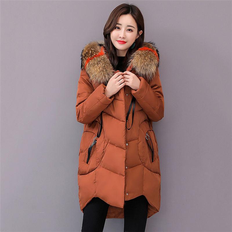 Plus Size Women Jacket Coat 2018 New 6XL Large Size Womens Down Jackets Hooded Long Coat Female   Parkas   Winter Outwear X59