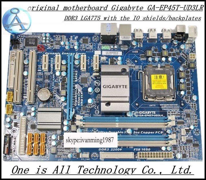 D'origine carte mère pour Gigabyte GA-EP45T-UD3LR P45 conseils EP45T-UD3LR LGA 775 DDR3 ATX Bureau motherborad Livraison gratuite