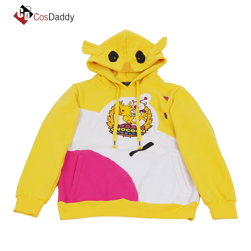 Moogle Chocobo Coat Choco-Mog hoodies Final Fantasy XV Noctis Cosplay Costume Yellow Carnival Pullover Sweatshirt BRAND CosDaddY