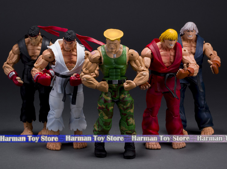 5 styles Selectable 7 18CM Street Fighter IV Survival Model Ken Ryu Guile PVC Action Figure Toy Free Shipping neca player select 18cm ultra street fighter 4 survival model ken masters ryu guile gouki action figure toy 6 style white black