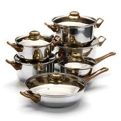Набор для приготовления MAYER & BOCH, 12 предметов, коричневые ручки