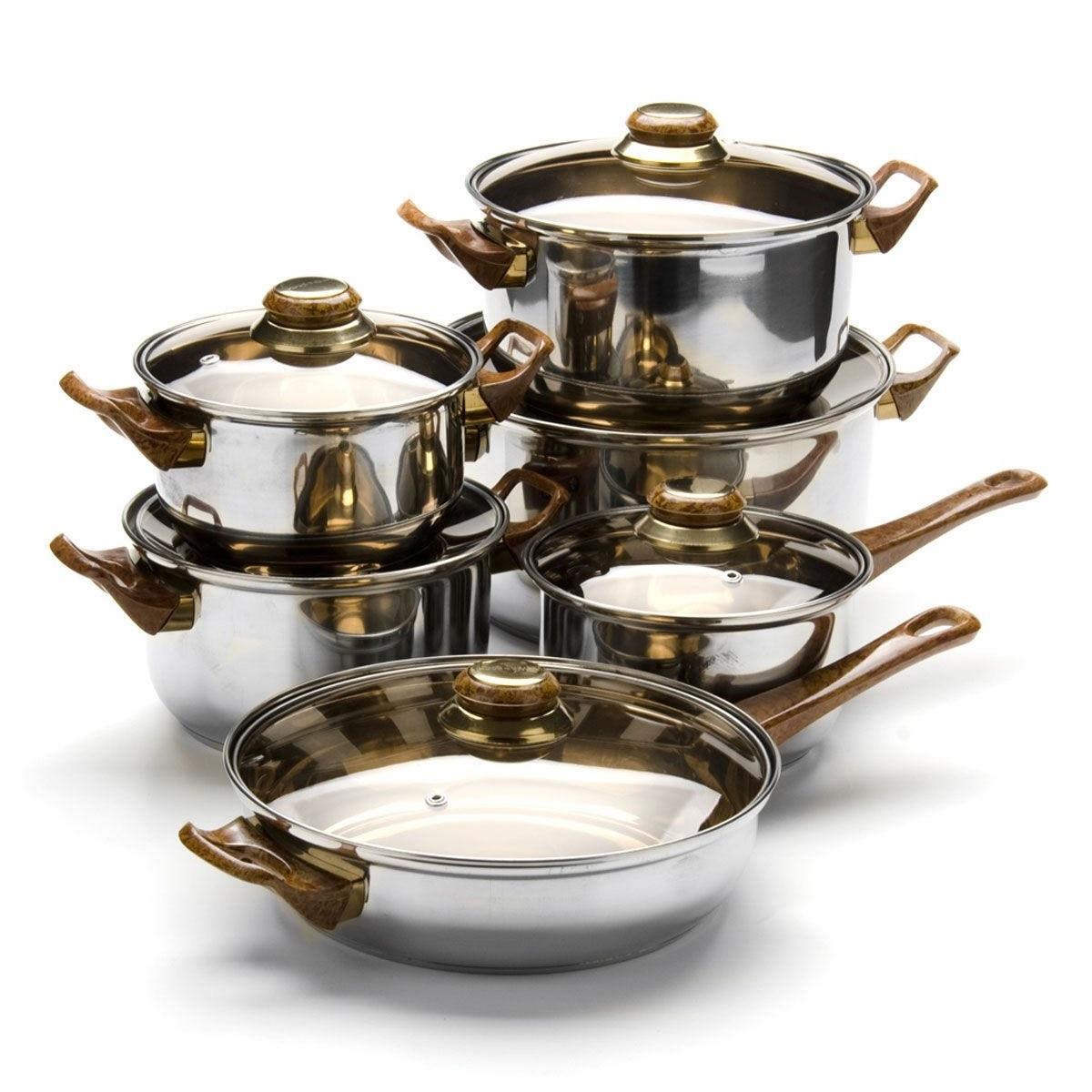 Набор на приготовления MAYER & BOCH, 12 предметов, коричневые ручки