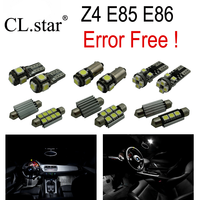 10 X canbus Error free LED Interior Light Kit for bmw Z4 E85 E86 Z4 roadster coupe (2003-2008) 14pc x error free f30 led interior light kit for bmw new 3series f30 320i 328i 328d 335i 2012