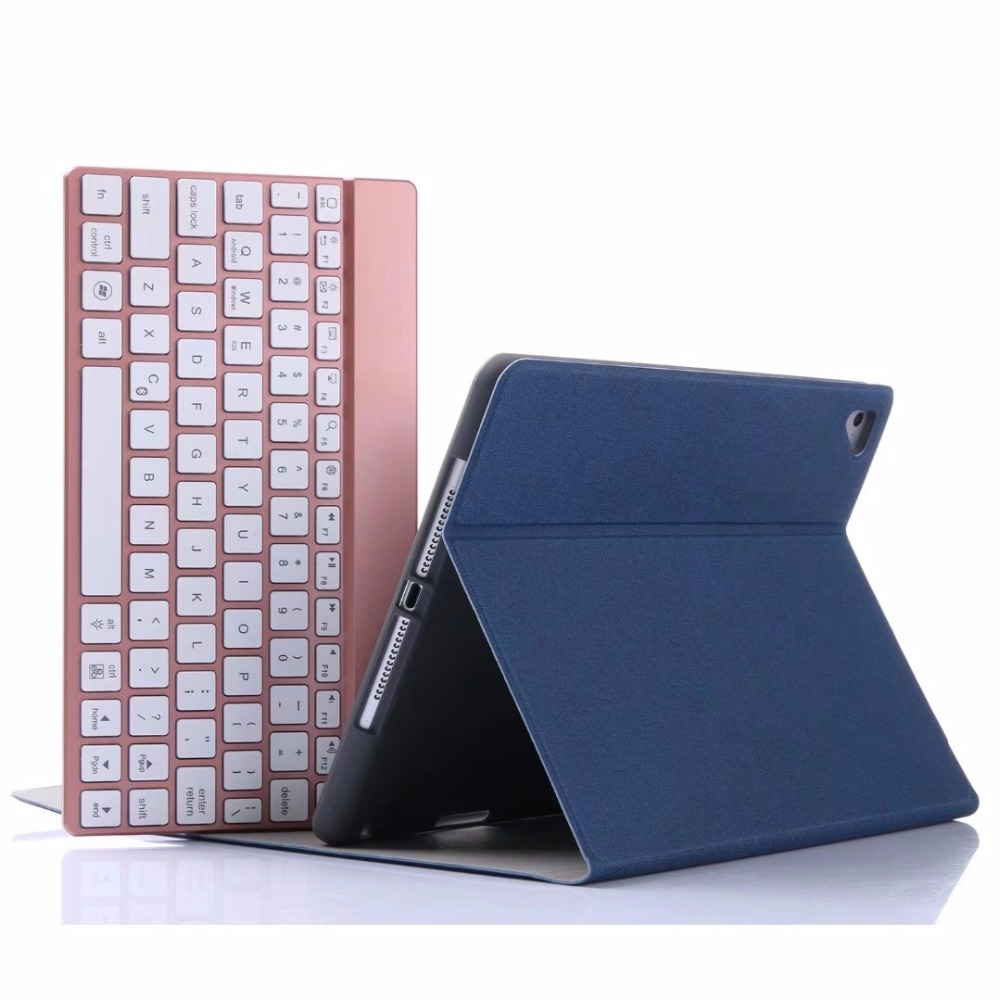 7 Colors Backlit Light Wireless Bluetooth Keyboard for iPad 9.7 New 2018 2017 with Stand Leather Case Cover for iPad 9.7 2017 aluminum keyboard cover case with 7 colors backlight backlit wireless bluetooth keyboard