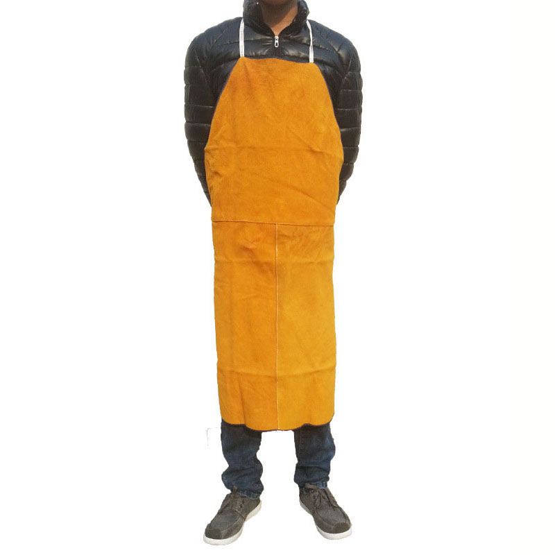 Welding Apron Cow Suede Welders Leather Safety Bib Apron Labor Working Protective Clothing Heat Resistant  Fire-resistantWelding Apron Cow Suede Welders Leather Safety Bib Apron Labor Working Protective Clothing Heat Resistant  Fire-resistant