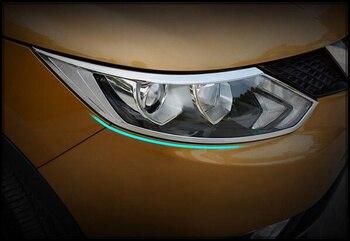 أعلى نجمة تشومي 2 قطع abs سيارة زخرفة غطاء المصباح الأمامي ، كشافات ، والديكور تقليم لنيسان قاشقاي 2016