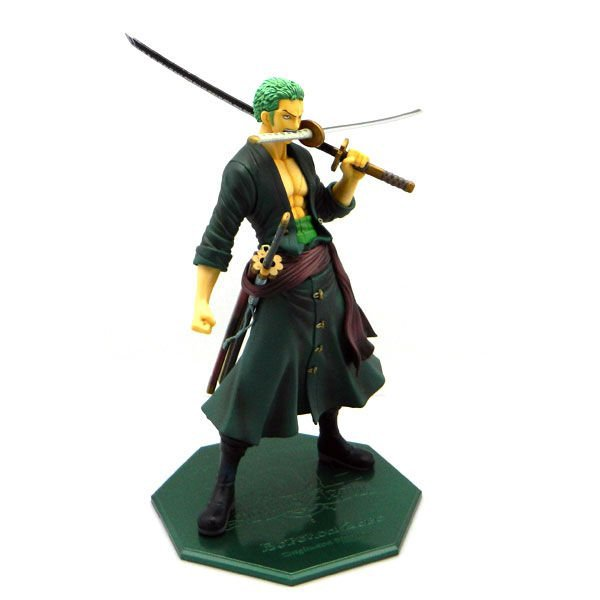 Free shipping 1 pcs one piece POP Roronoa zoro newest  pvc figure toy tall 22cm .action doll pop zoro pvc figure as gift 24 colors for choose fishing lure minnow crankbait pencil lures wobbler pesca artificial swivels hard bait swimbait tackle