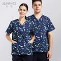 2016 печатных медицинская одежда для uniformes медики доктор ткани, униформа с комфортной медицинской равномерной скрабы мноёество