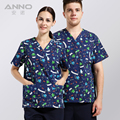 2016 printed medical clothings for uniformes medicos doctor uniform  fabric with comfortable medical uniform in scrubs set