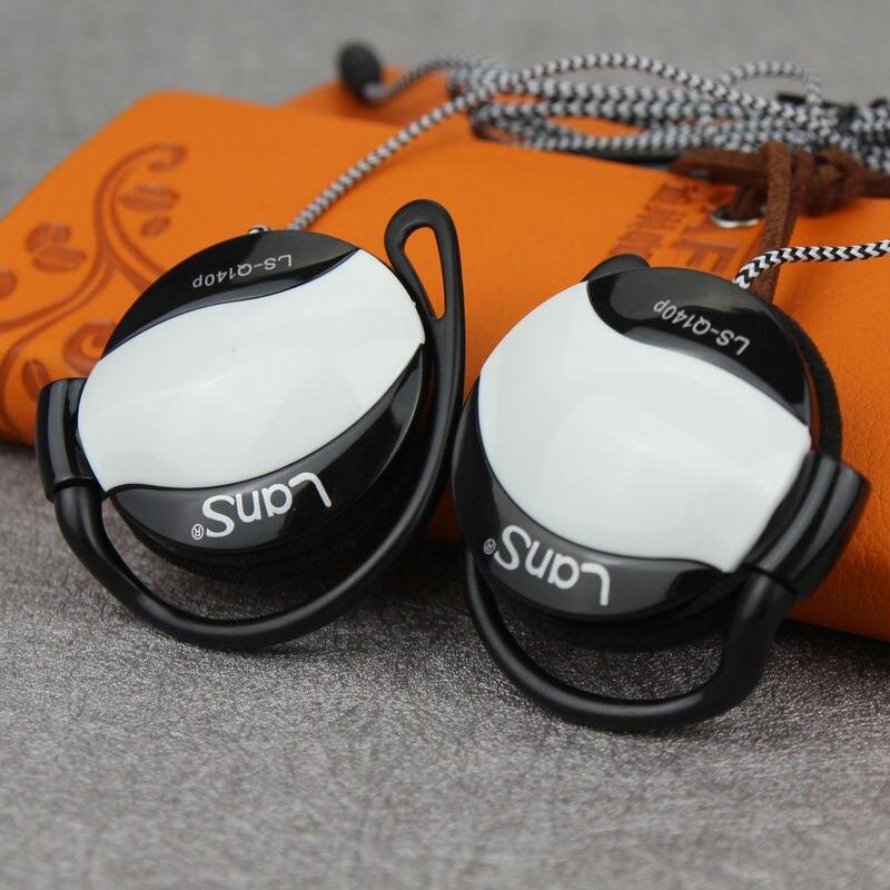 Daono Q140P Écouteur Pour Téléphone Basse Casque Avec Micphone Stéréo Oreille-Crochet Casque Pour Ordinateur PC Samsung Sony