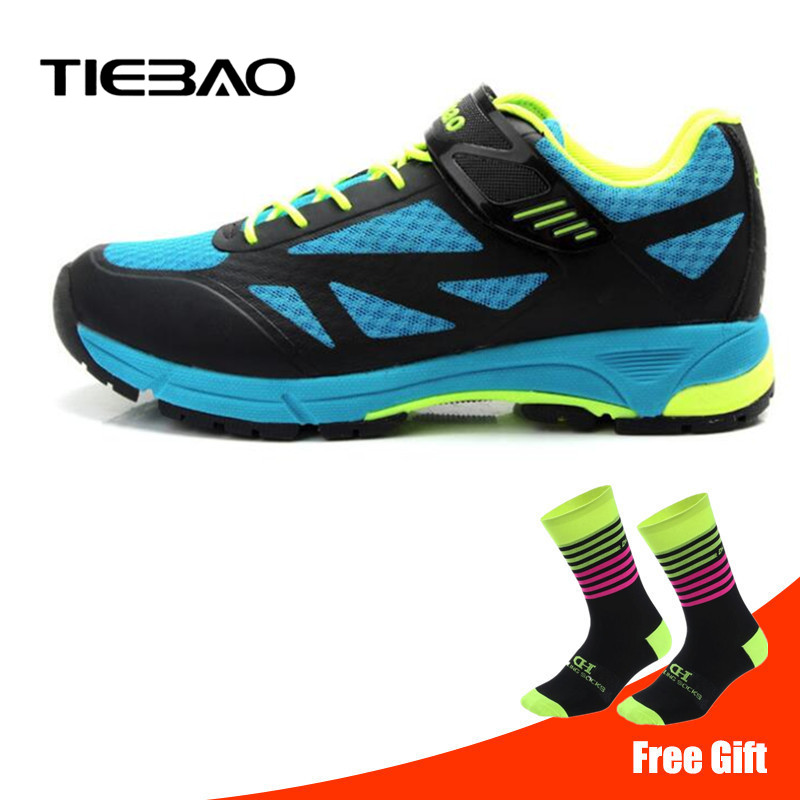 Tiebao Leisure Cycling Shoes Professional Men Women Bicycle Self-Locking MTB Mountain Bike Shoes Breathable Riding Sport Shoes