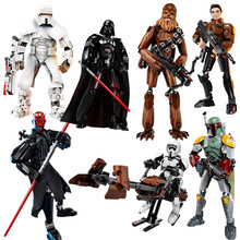 Baru Star Wars Darth Mainan Jango Erso K-2SO Darth Vader Gambar Mainan Blok Bangunan Legoinglys Starwars(China)