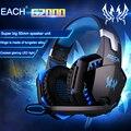 ТК KOTION КАЖДЫЙ G2000 Gaming Headset Световой PS4 Наушники Наушники с Микрофоном для Мобильных Телефонов Портативных ПК Видео Игры